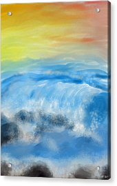Sea Foam Acrylic Print