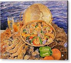 Sea-food Acrylic Print by Ciocan Tudor-cosmin