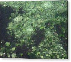 Sea Green Abstract Acrylic Print