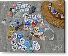 Sea Isle City Beach Tags Acrylic Print by Nancy Patterson