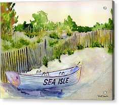 Sea Isle Rescue Boat Acrylic Print by Paul Temple