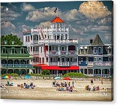 Sea Mist Hotel Acrylic Print