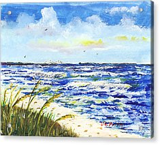 Sea Oats And Skyway Acrylic Print by JC Prida