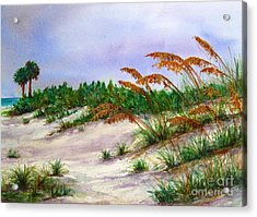 Sea Oats In The Dunes Acrylic Print
