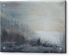 Acrylic Print featuring the painting Sea Oats by Judith Rhue