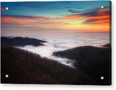 Acrylic Print featuring the photograph Sea Of Clouds by Ryan Wyckoff