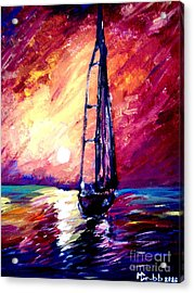 Sea Of Colors Acrylic Print by Michael Grubb