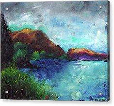 Sea Of Galilee And Mt Arbel Acrylic Print by Noga Ami-rav