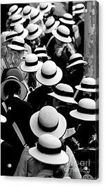 Sea Of Hats Acrylic Print by Avalon Fine Art Photography
