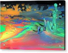 Sea Of Paint Acrylic Print