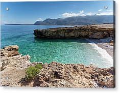 Sea Of Sicily, Macari II Acrylic Print by Davide Damico