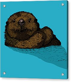 Sea Otter - Full Color Acrylic Print by Karl Addison