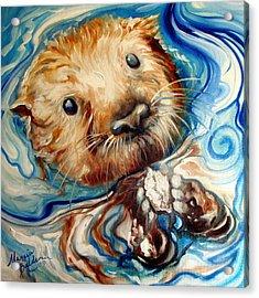 Sea Otter Swim Acrylic Print