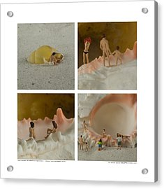 Sea Shells With Preiser Figurines Number Two Acrylic Print by Rolf Bertram