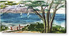 Sea Shore Elongated Painting Acrylic Print