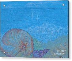 Sea Shore Acrylic Print by Kim Sy Ok