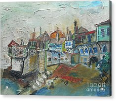 Sea Shore Village Acrylic Print