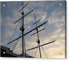 Acrylic Print featuring the pyrography Sea Sky by Yury Bashkin