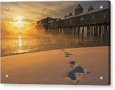 Sea Smoke - Old Orchard Beach Acrylic Print