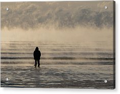 Sea Smoke Thinking Man Acrylic Print