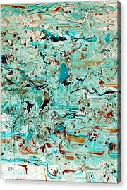 Acrylic Print featuring the mixed media Sea-splash by Sherri  Of Palm Springs