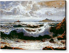 Acrylic Print featuring the painting Sea Storm by Rosario Piazza