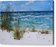 Acrylic Print featuring the painting Sea Study 08 by Sibby S