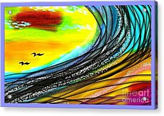 Sea Acrylic Print by The Art of Alice Terrill