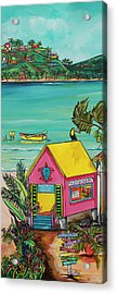Acrylic Print featuring the painting Sea Turtle Rescue Center by Patti Schermerhorn