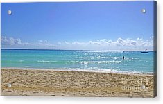 Acrylic Print featuring the photograph Sea View M2 by Francesca Mackenney