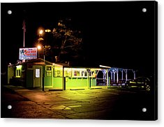 Acrylic Print featuring the photograph Sea View Snack Bar - Mystic Ct by Kirkodd Photography Of New England