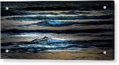 Sea Waves After Sunset Acrylic Print