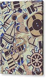 Seaboard Scrapbook Acrylic Print