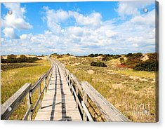 Acrylic Print featuring the photograph Seabound Boardwalk by Debbie Stahre