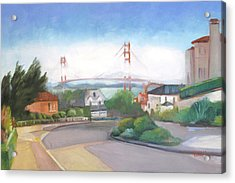 Seacliff Vision With Golden Gate Bridge In Fog Acrylic Print