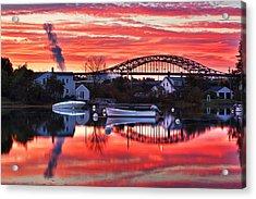 Seacoast Sundown Acrylic Print by Eric Gendron