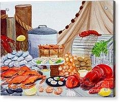 Seafood Feast Acrylic Print by Pauline Ross
