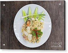 Seafood Fried Rice Acrylic Print by Atiketta Sangasaeng