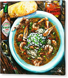 Seafood Gumbo Acrylic Print by Dianne Parks