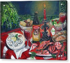 Seafood Soiree Acrylic Print by Karryn Arthur