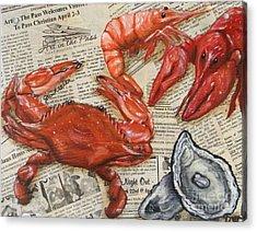 Seafood Special Edition Acrylic Print by JoAnn Wheeler