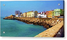 Seafront Promenade In Cadiz Acrylic Print