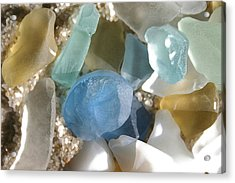 Seaglass Acrylic Print by Mary Haber