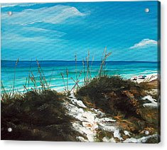 Seagrove Beach Florida Acrylic Print by Racquel Morgan