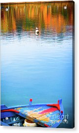 Seagull And Boat Acrylic Print