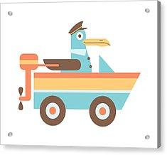 Seagull Sailor Acrylic Print