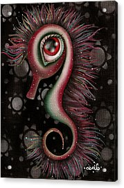 Seahorse Acrylic Print by  Abril Andrade Griffith