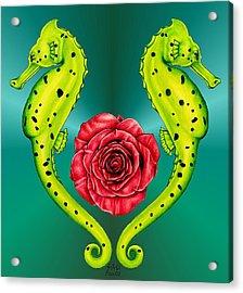Seahorse Acrylic Print by Sheryl Unwin