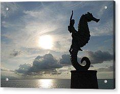 Seahorse Silhouette Acrylic Print