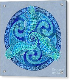 Seahorse Triskele Acrylic Print